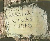 """Roma, """"Epitaffio di Massimo"""""""