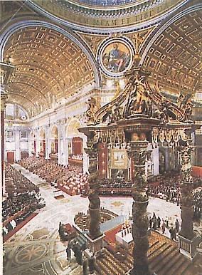 Una congregazione generale del concilio Vaticano Il nella basilica di S. Pietro