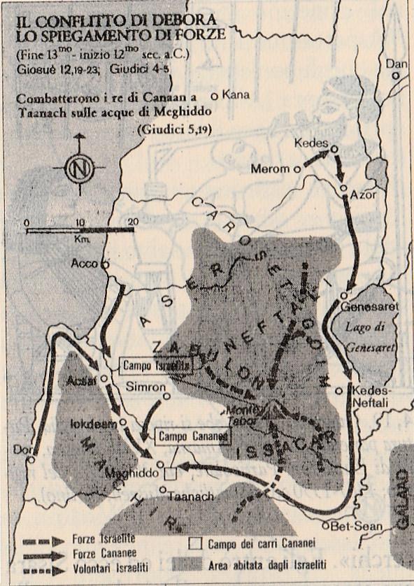 Il conflitto di Debora - Lo spiegamento di forze