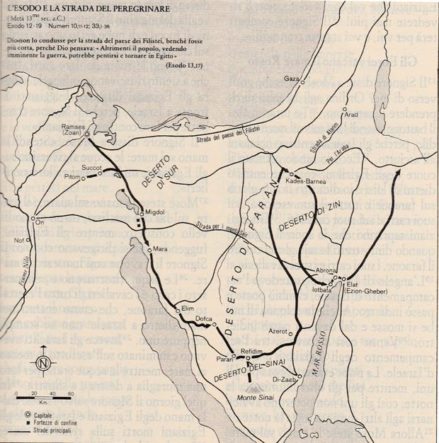 L'esodo e la strada del peregrinare