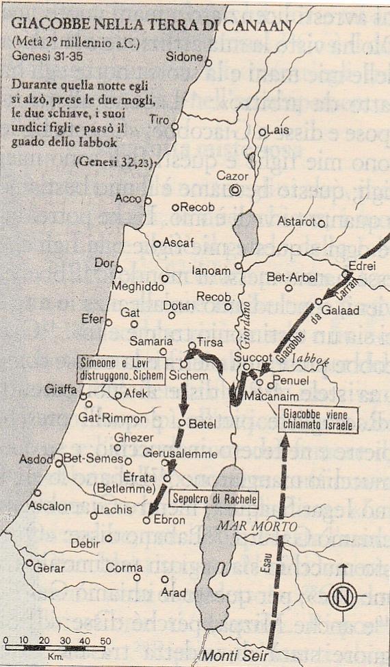 Giacobbe nella terra di Canaan