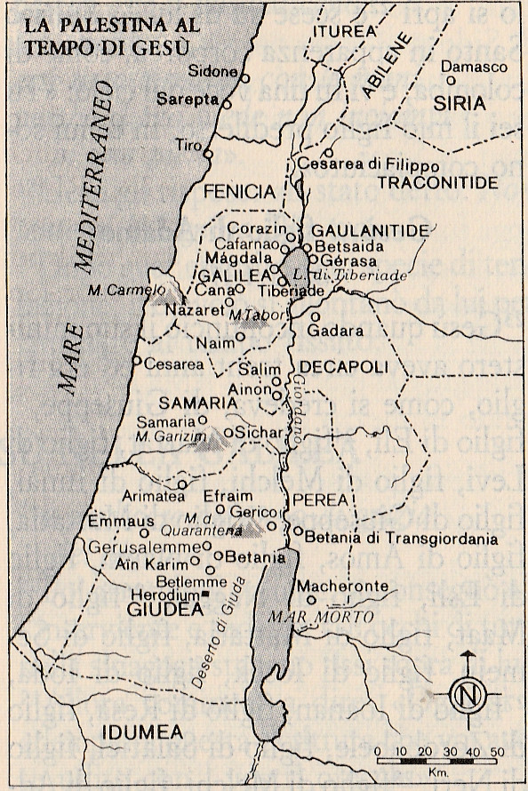 Cartina Politica Palestina.Monastero Virtuale La Palestina Al Tempo Di Gesu Cartina Piu Dettagliata