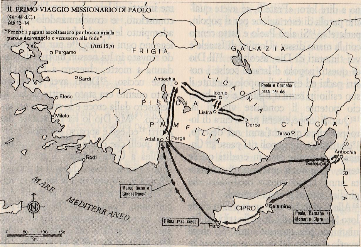 Il primo viaggio missionario di Paolo