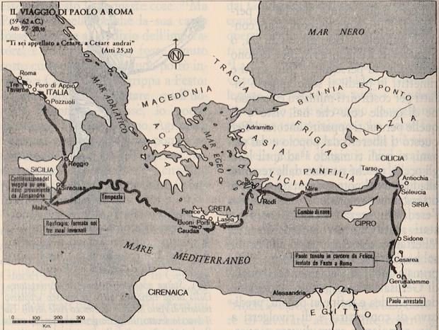 Il viaggio di Paolo a Roma