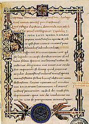 L'inizio dell'Apologetico di Tertulliano in un codice  vaticano
