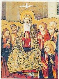 La discesa dello Spirito Santo: Maria in preghiera con gli apostoli