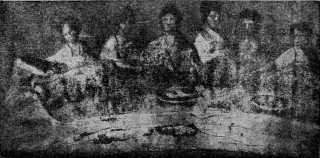 Oblazione eucaristica - III secolo, catcombe di S. Callisto